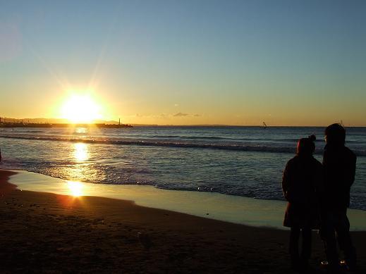 朝日が昇るとき