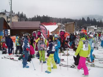 49回全日本スキー技術選手権大会本選朝7時45分頃