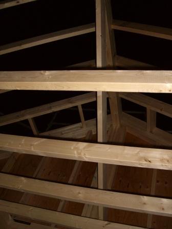 躯体工事 南側垂木