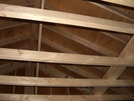 躯体工事 屋根の野地板