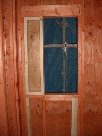 躯体工事 修正されたお風呂の窓