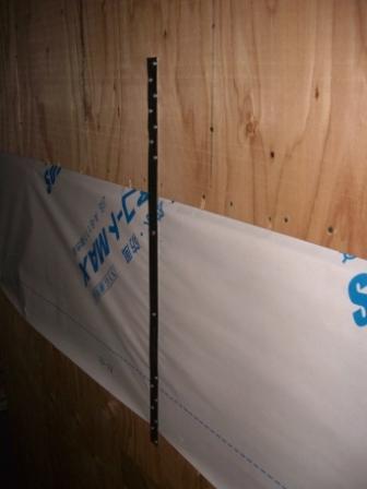 外壁工事 帯金物締結 2F