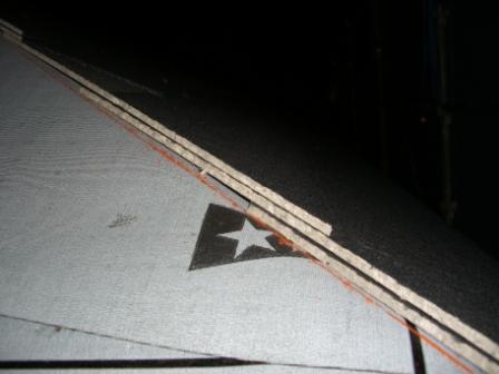 屋根工事 スレートの重なり