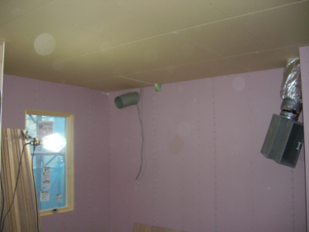 内装工事 キッチンの壁