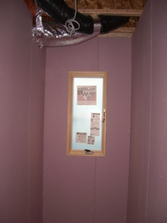 内装工事 トイレの壁も