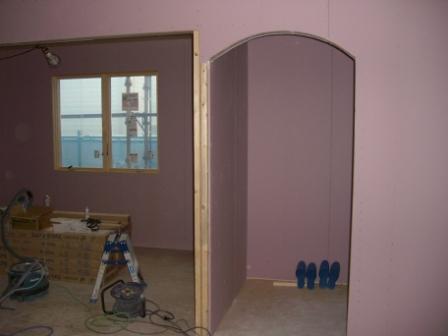 内装工事 玄関アーチ