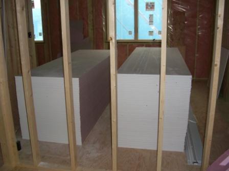 内装工事 2Fの石膏ボード