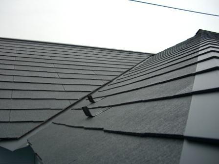 屋根工事完了 クランク部分