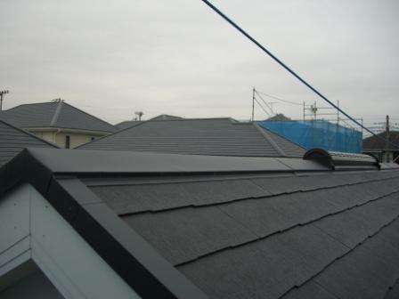 屋根工事完了 屋根トップ