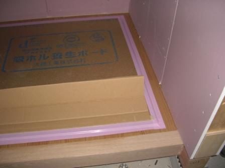 内装工事 上がり框と床板設置