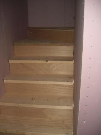 内装工事 階段が出来ていました