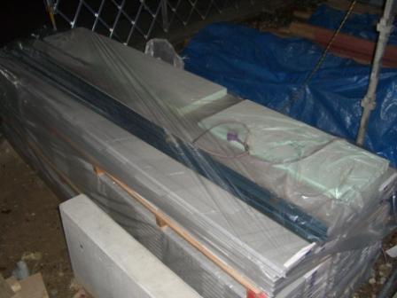 外壁工事 サイディングボード搬入