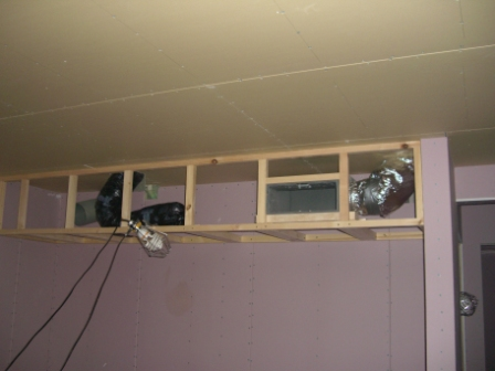 内装工事 キッチン下がり天井 枠組み