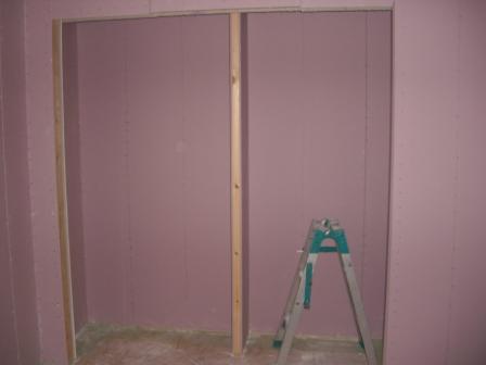 内装工事 子供部屋クローゼットの仕切壁