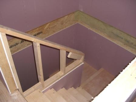 内装工事 階段手摺 枠組み