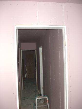 内装工事 2F出入り口枠