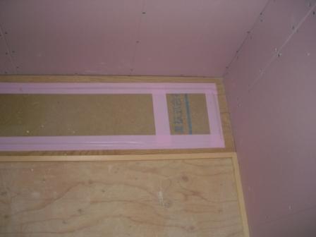 内装工事 和室の板部分