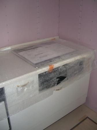 内装工事 キッチンのIHヒーター