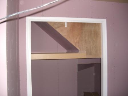 内装工事 押入れの棚