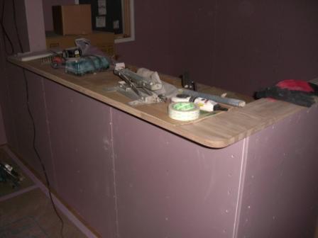 内装工事 キッチンカウンター造作終了