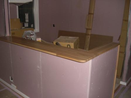 内装工事 キッチンカウンターが綺麗