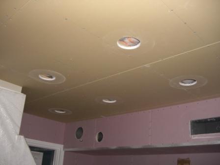 内装工事 各種穴あけ キッチン天井