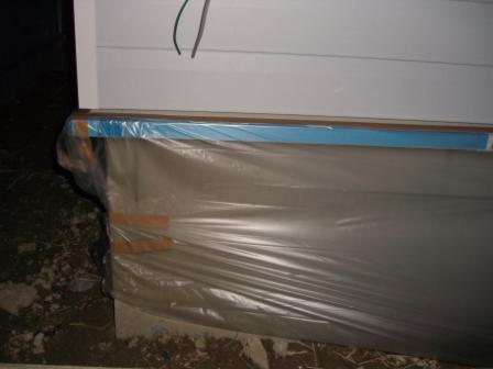外壁工事 塗装のマスキング