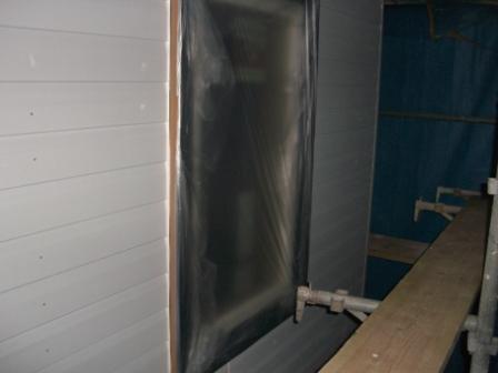 塗装準備 窓もマスキング