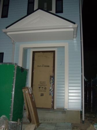 外壁工事 塗装終了 玄関まわり