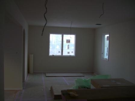 内装工事 クロス終了 リビングから窓