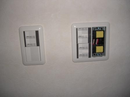 内装工事 スイッチ類の取り付け進行