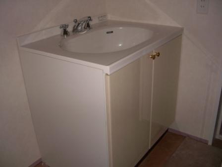 内装工事 洗面台設置
