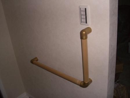 内装工事 玄関の手摺