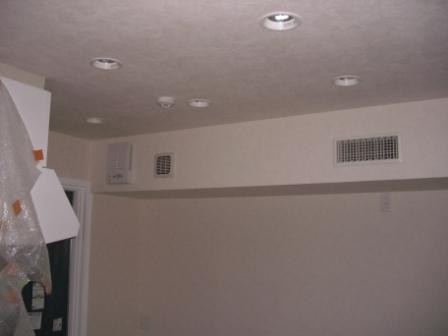 内装工事 空調のルーバー設置
