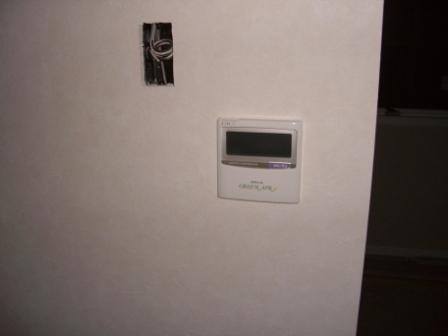 内装工事 全館空調のコントローラー