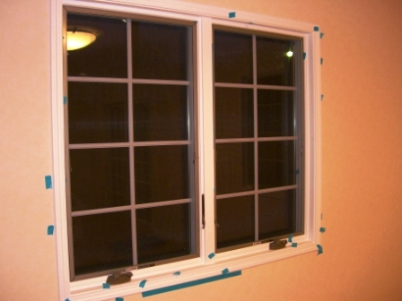 竣工目前 窓の格子、鍵などの施工