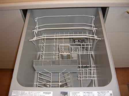 竣工目前 キッチン確認 食洗機内部