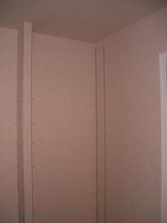 内装工事 ライブラリの棚板延長