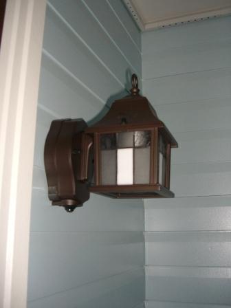 外装工事 玄関ポーチ灯設置