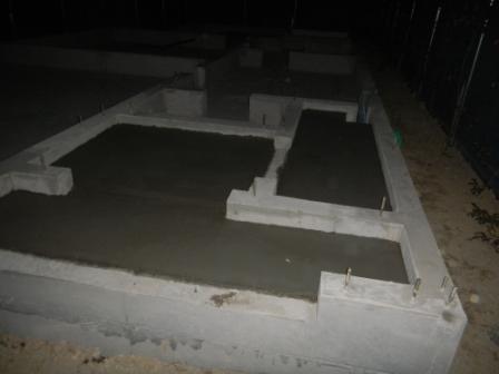 基礎工事 土間コンクリート打ち