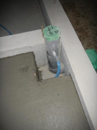 基礎工事 2Fトイレへの水道