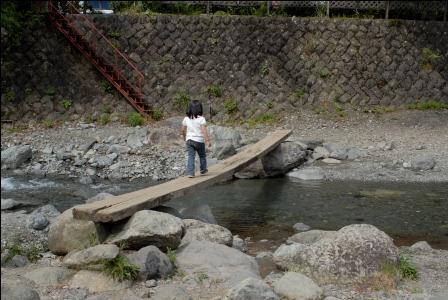 滝沢園 一本橋も怖くないらしい