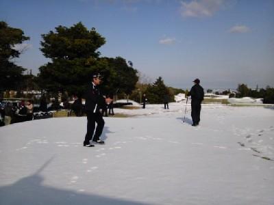 雪<関空GC>③11.02.13_09:33