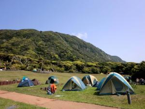 Camping site in Niijima