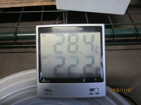 簡易ハウスの温度計 10,11,7 001