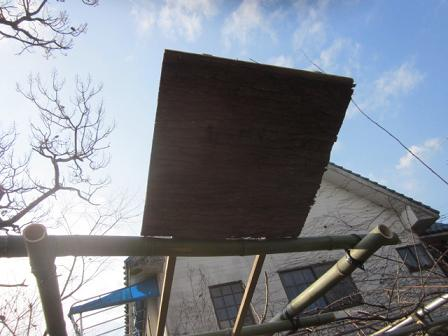 蜂集合板を作る 10,12,17 005