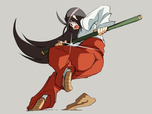 抜刀巫女(着色)