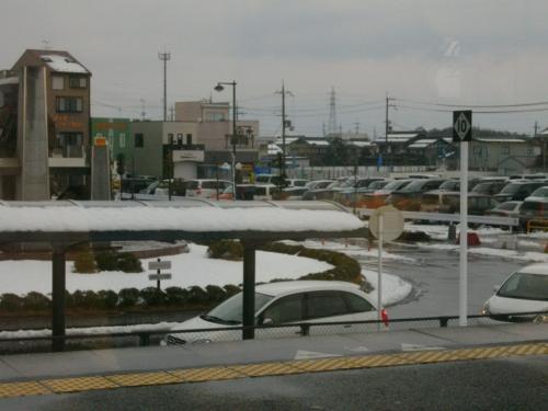 雪積もってた