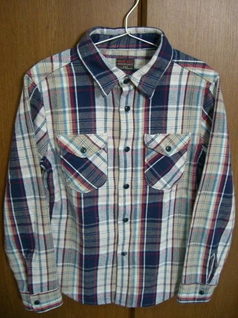UES 先染チェックヘビーネルシャツ(ジェイムスファブレッド別注)