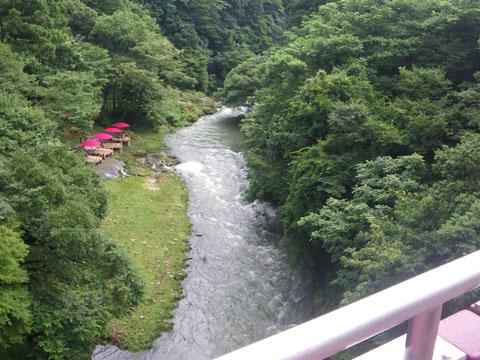 鶴仙渓川床